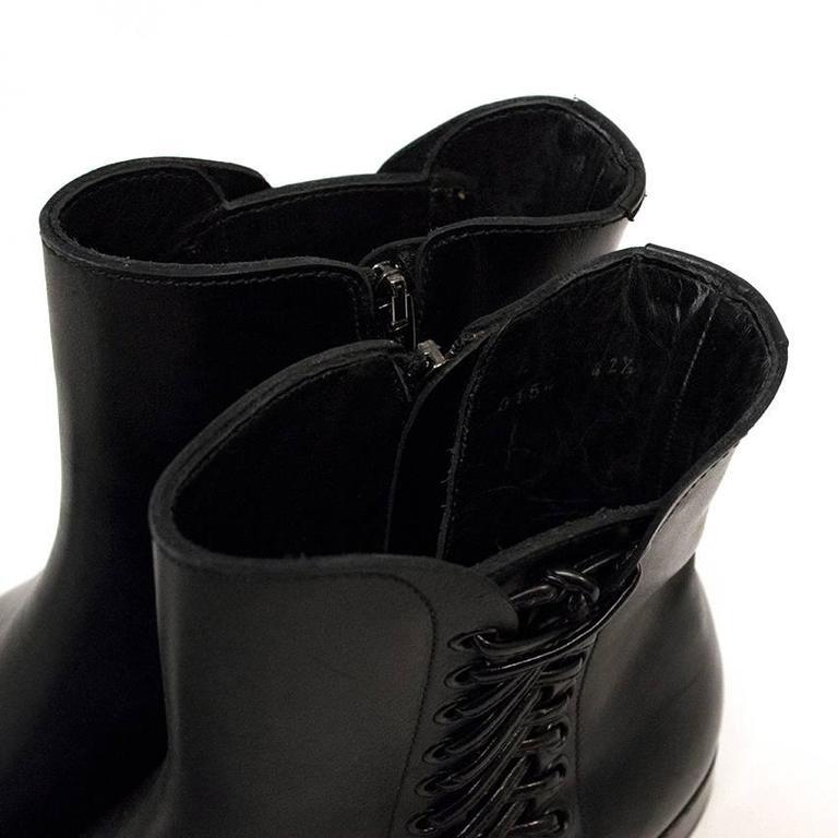 sergio rossi black leather ankle boots for sale at 1stdibs. Black Bedroom Furniture Sets. Home Design Ideas