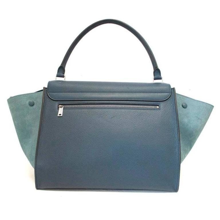 Celine Trapeze Bag with Silver Hardware In New never worn Condition For Sale In London, GB