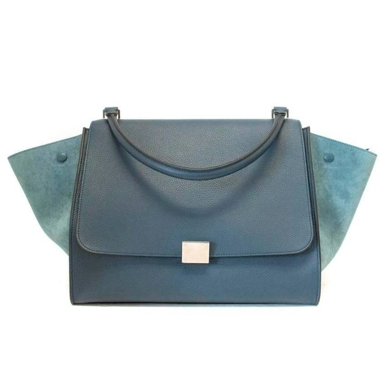 Women's  Celine Trapeze Bag with Silver Hardware For Sale