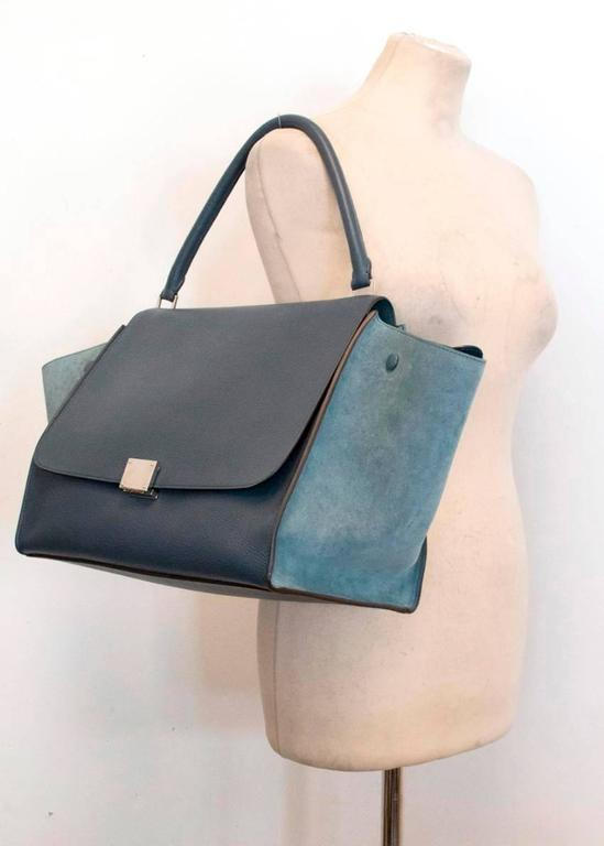 Celine Trapeze Bag with Silver Hardware For Sale 4