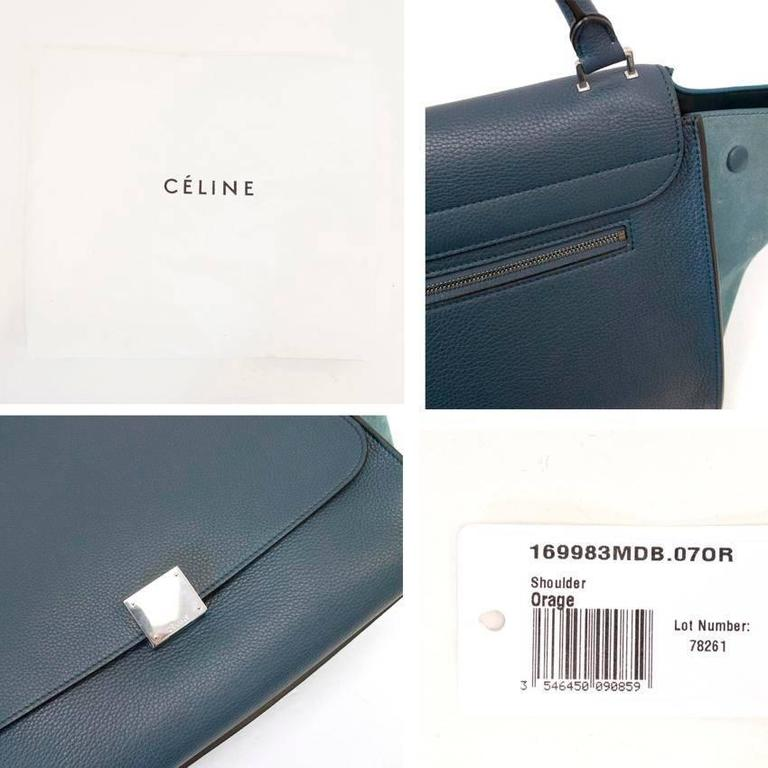 Celine Trapeze Bag with Silver Hardware For Sale 5