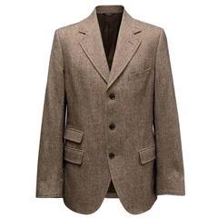 Dolce & Gabbana Men's Brown Houndstooth Blazer