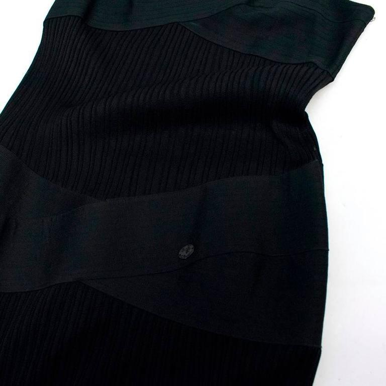 Chanel Black Pleated Strappy Ankle Length Dress 9