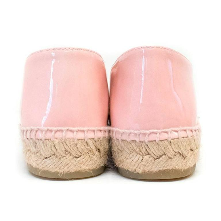 Chanel Pink Patent Espadrilles 2