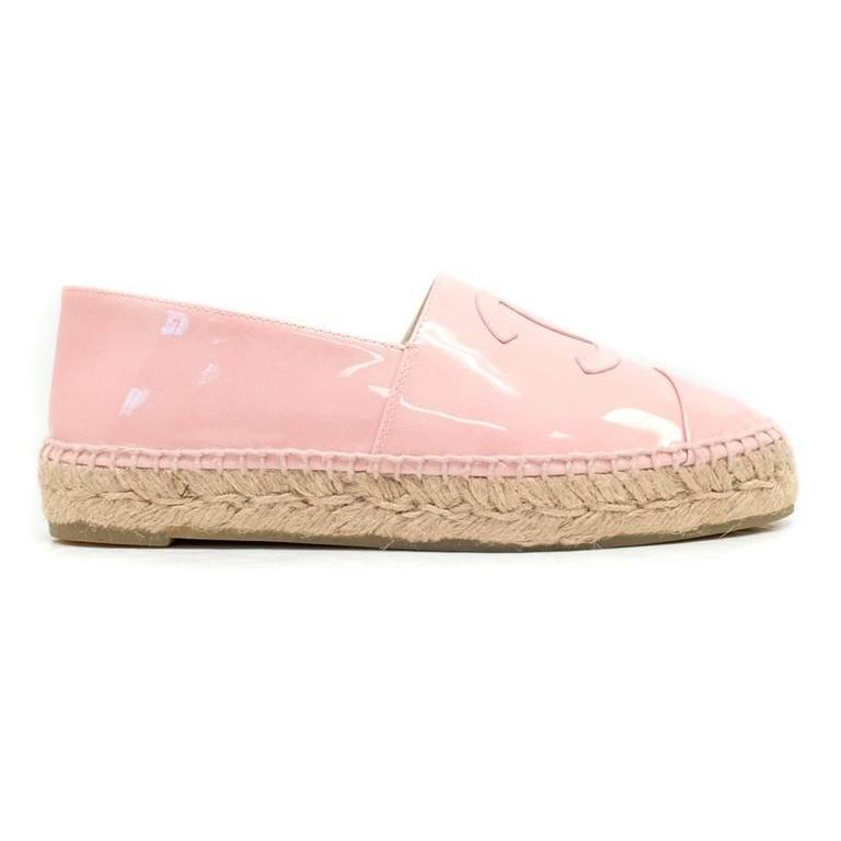 Chanel Pink Patent Espadrilles 6