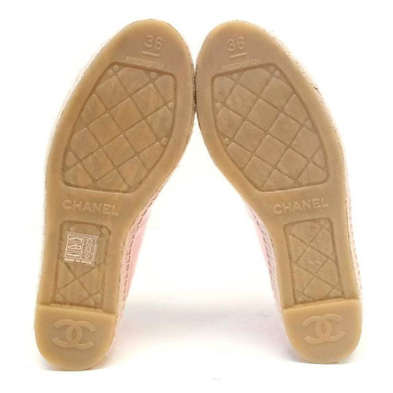 Chanel Pink Patent Espadrilles 8