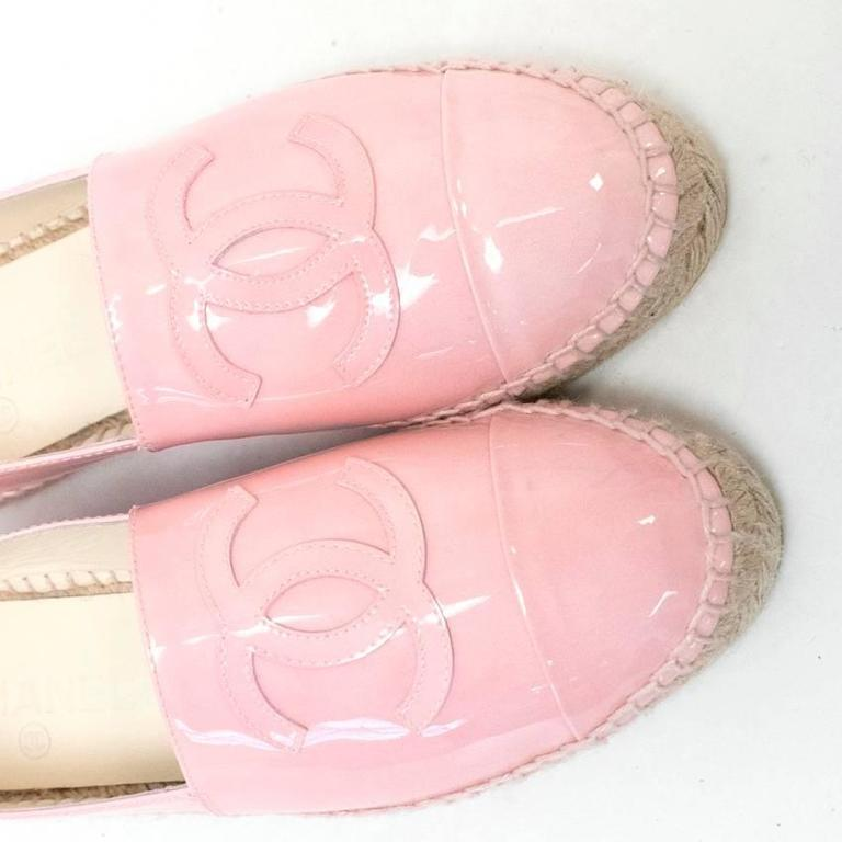 Chanel Pink Patent Espadrilles 9