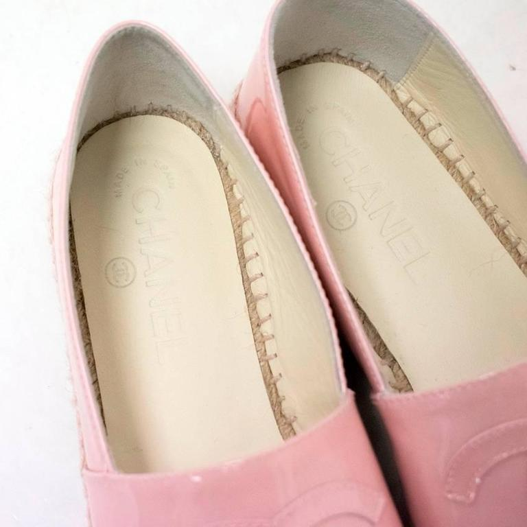 Chanel Pink Patent Espadrilles 7