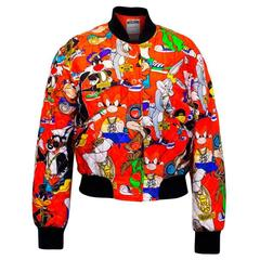 Moschino Couture Quilted Printed Silk-twill Bomber Jacket