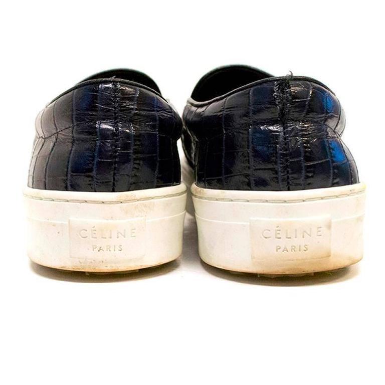 Black Mock Croc Shoes