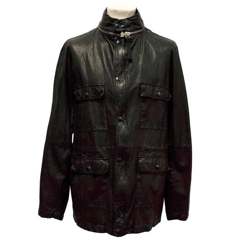 Marni black goat leather jacket. Turtleneck with zipper and pop button fastening. Has  pop button closure pockets. Drawstring waist. The jacket is lightweight.   Condition - 9/10  Size: XL Size UK: 42 Size EU: 52  Approximate measurements: Length -