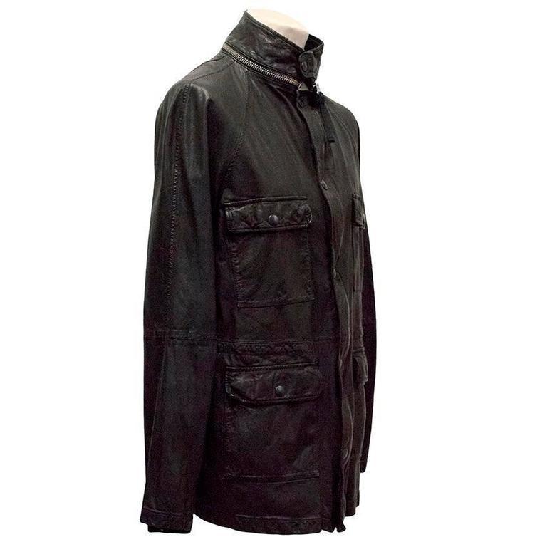 Men's Marni Black Goat Leather Jacket For Sale