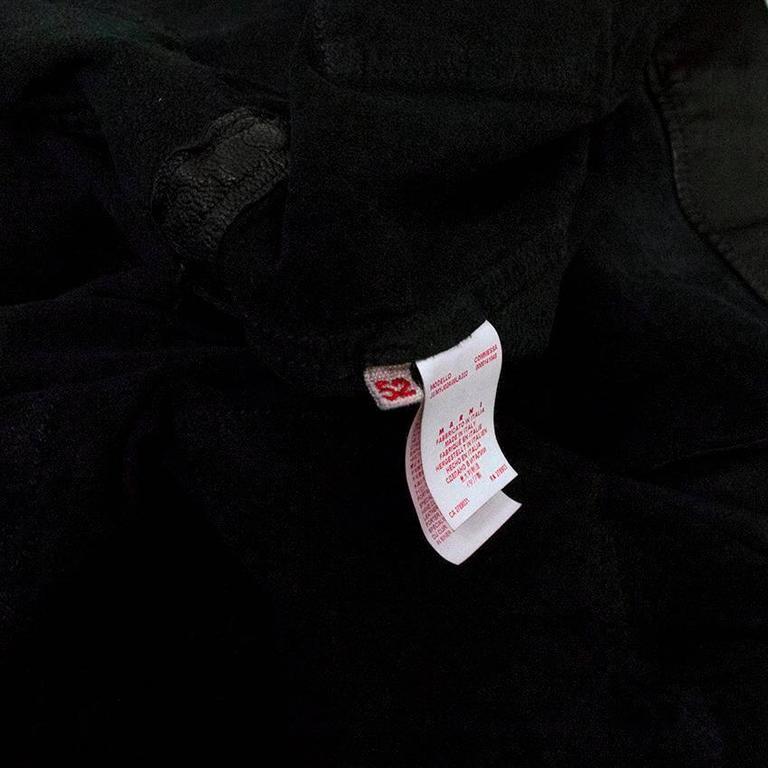 Marni Black Goat Leather Jacket For Sale 3