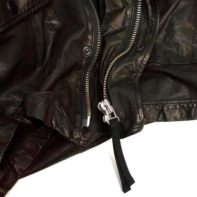 Marni Black Goat Leather Jacket For Sale 5