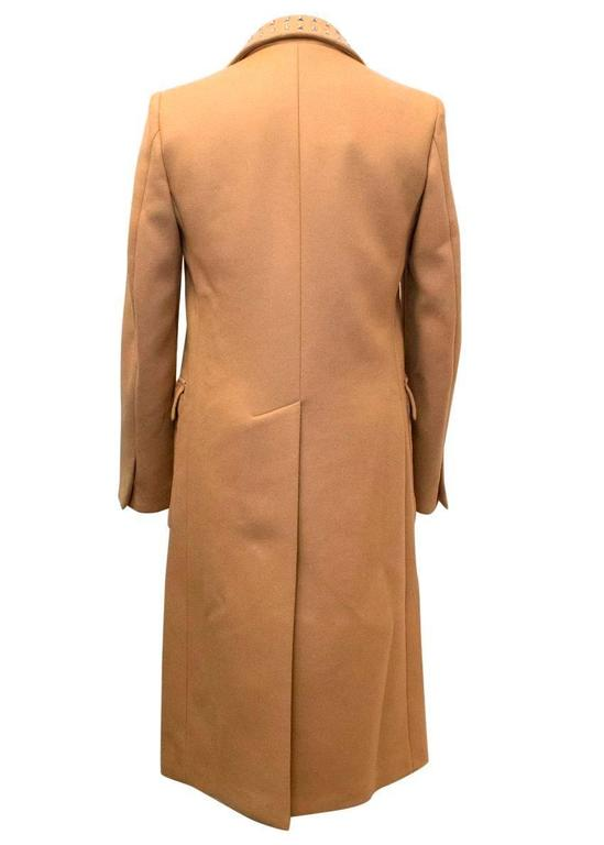 J W Anderson Runway Camel Coat With A Studded Collar For