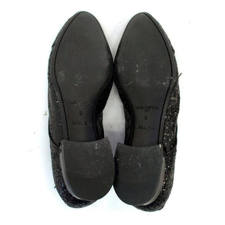 louis vuitton black glitter dress shoes for sale at 1stdibs