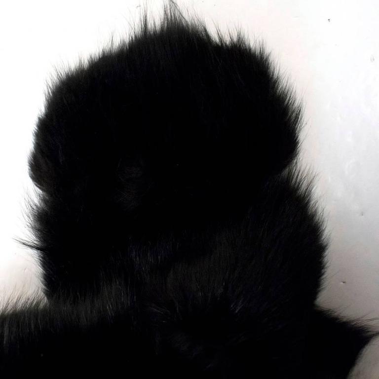 Cecile Black And White Fox Fur Coat 2