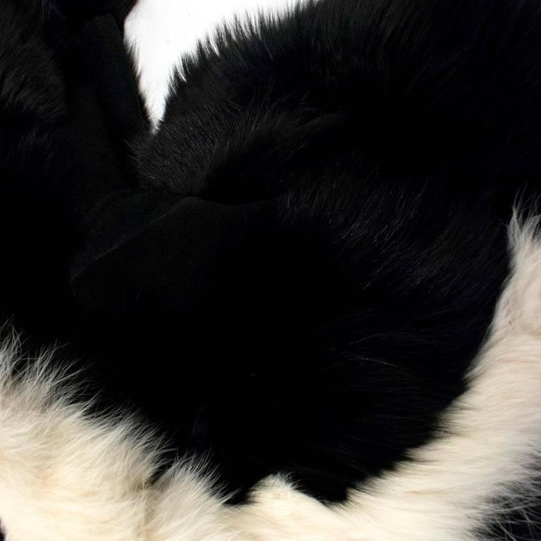 Cecile Black And White Fox Fur Coat 3