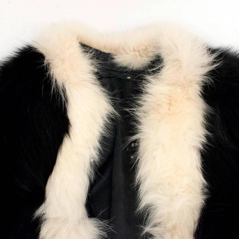Cecile Black And White Fox Fur Coat 5