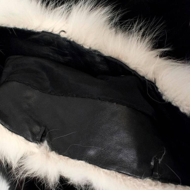 Cecile Black And White Fox Fur Coat 7