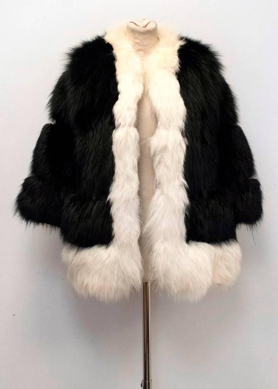 Cecile Black And White Fox Fur Coat 9
