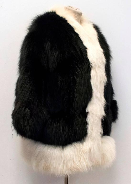 Cecile Black And White Fox Fur Coat 6