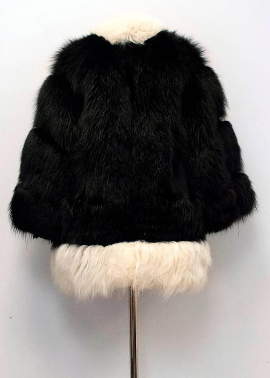 Cecile Black And White Fox Fur Coat 10