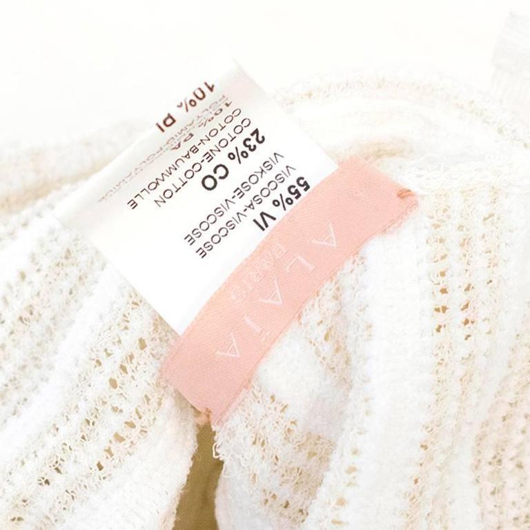 Women's Alaia Cream Skater Skirt  For Sale