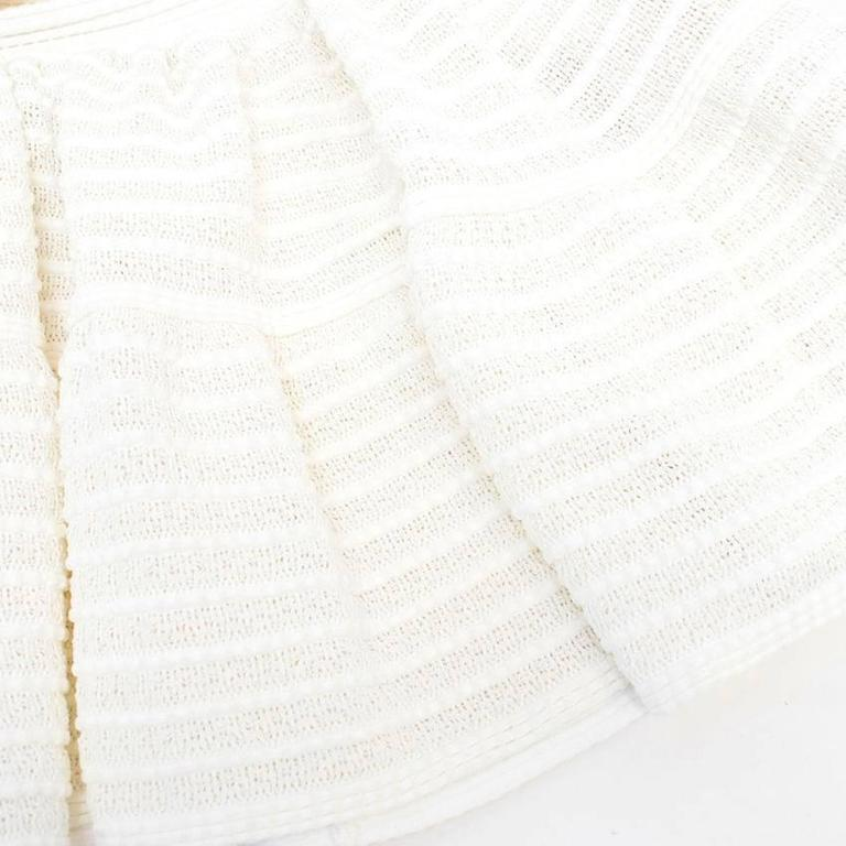 Alaia Cream Skater Skirt  In Excellent Condition For Sale In London, GB