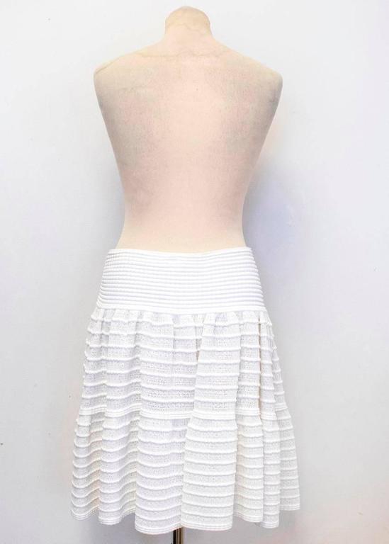 Alaia Cream Skater Skirt  For Sale 2