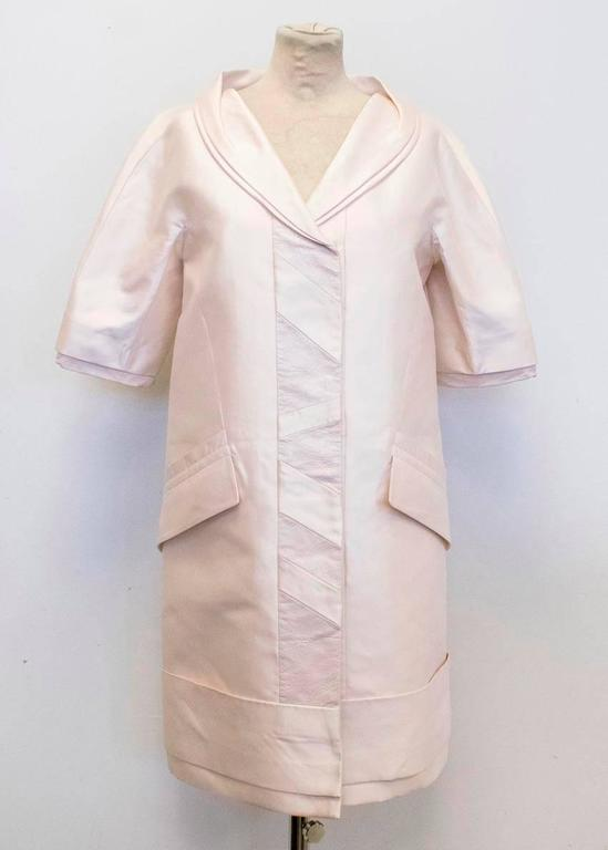 Louis Vuitton Cream Silk Lightweight Coat 5