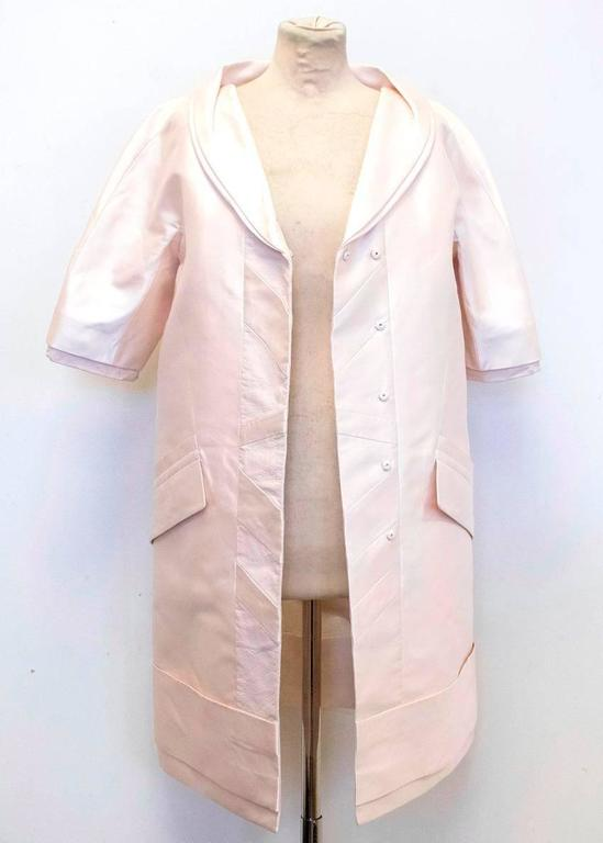 Louis Vuitton Cream Silk Lightweight Coat 6