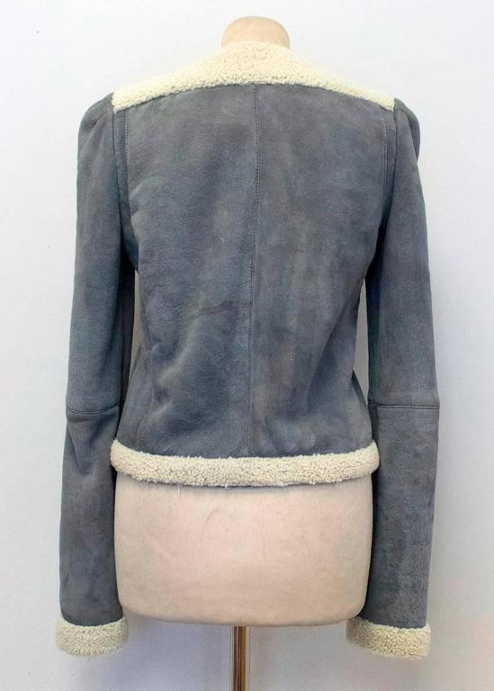 Balenciaga Leather Grey Suede and Shearling Lined Jacket 2