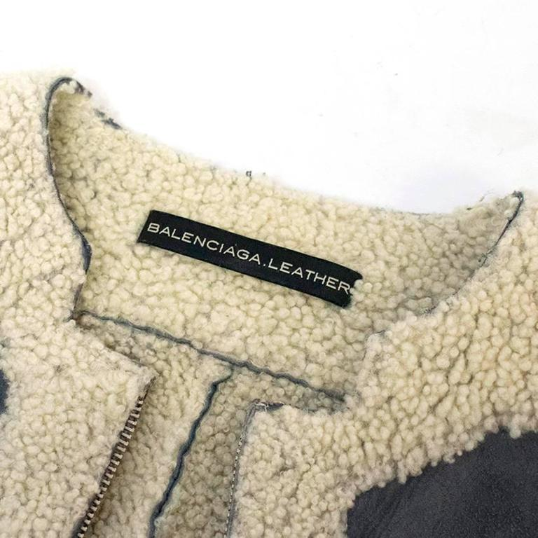 Balenciaga Leather Grey Suede and Shearling Lined Jacket 5