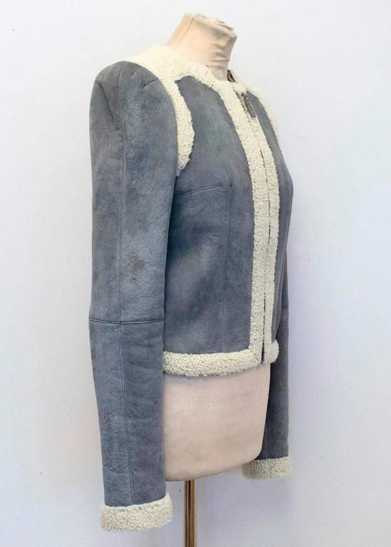 Balenciaga Leather Grey Suede and Shearling Lined Jacket 7