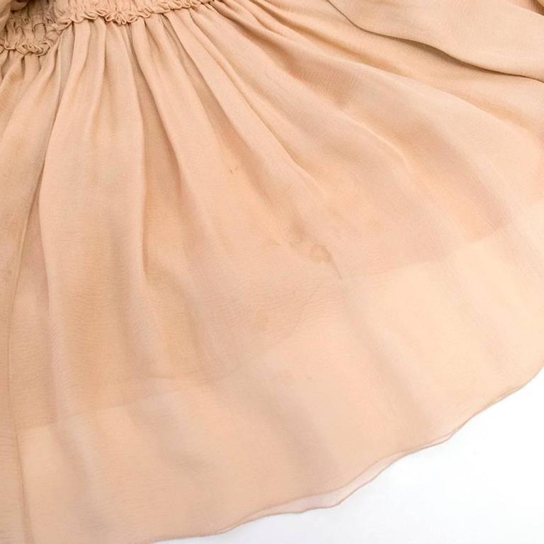 Chanel Nude Silk Ruffle Dress 2