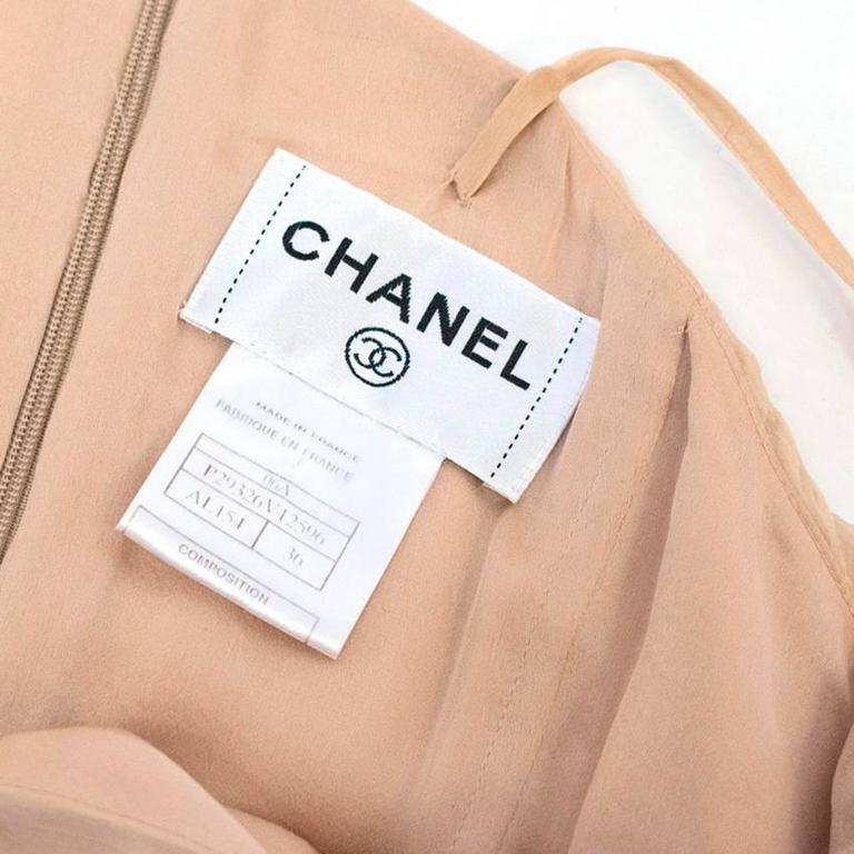 Chanel Nude Silk Ruffle Dress 3