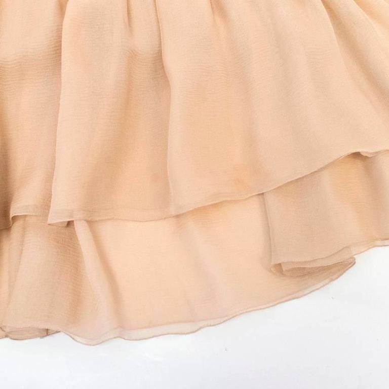 Chanel Nude Silk Ruffle Dress 5