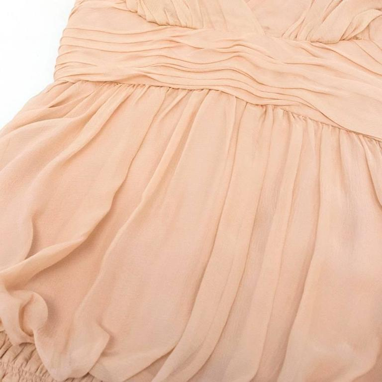 Chanel Nude Silk Ruffle Dress 9
