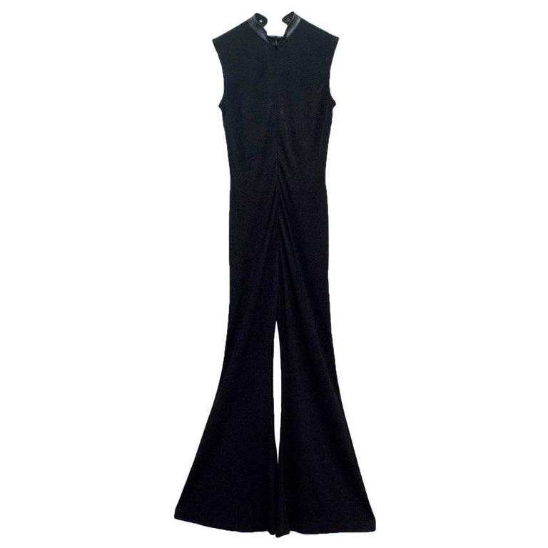 Escada Black Jumpsuit With Lace Up Front 2