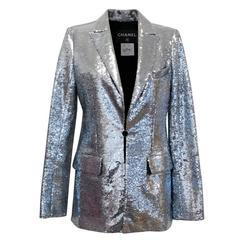 Chanel Silver Sequin Blazer S/S 2009