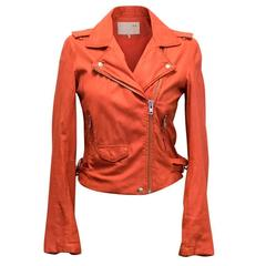 Iro Orange Leather Jacket
