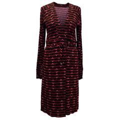 Gucci Multicolour Geometric Patterned Wrap Dress