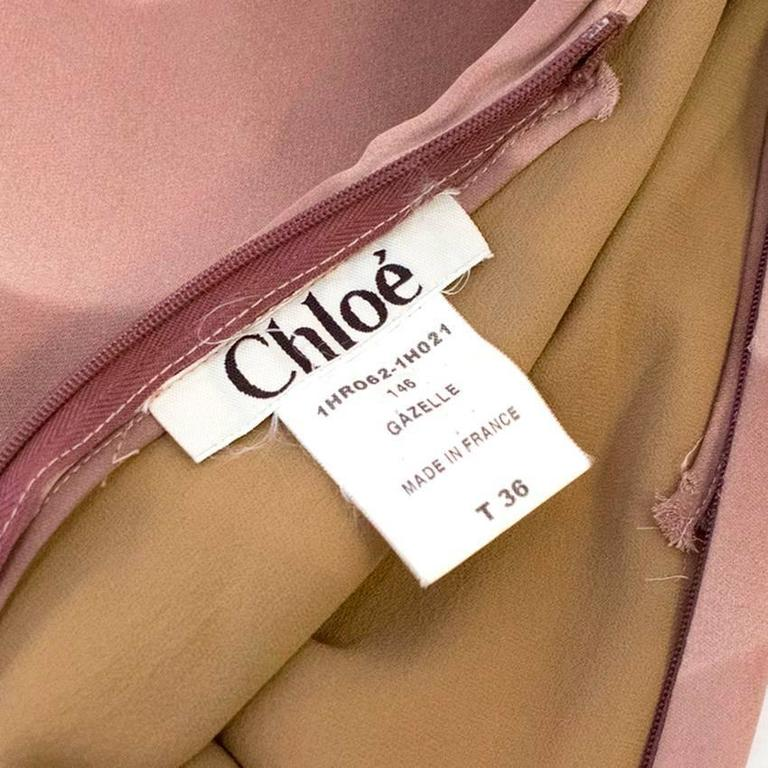 Chloe Dusky Pink Printed Silk Dress  6