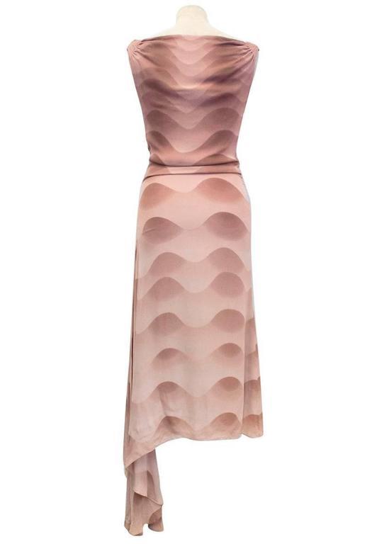 Chloe Dusky Pink Printed Silk Dress  4