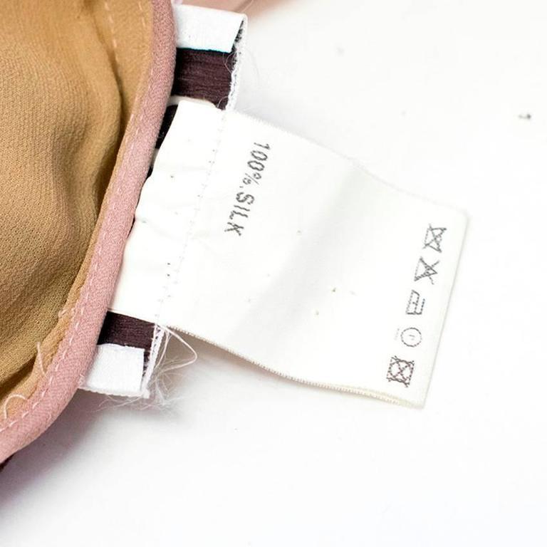 Chloe Dusky Pink Printed Silk Dress  7