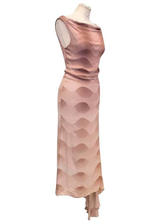 Chloe Dusky Pink Printed Silk Dress  8