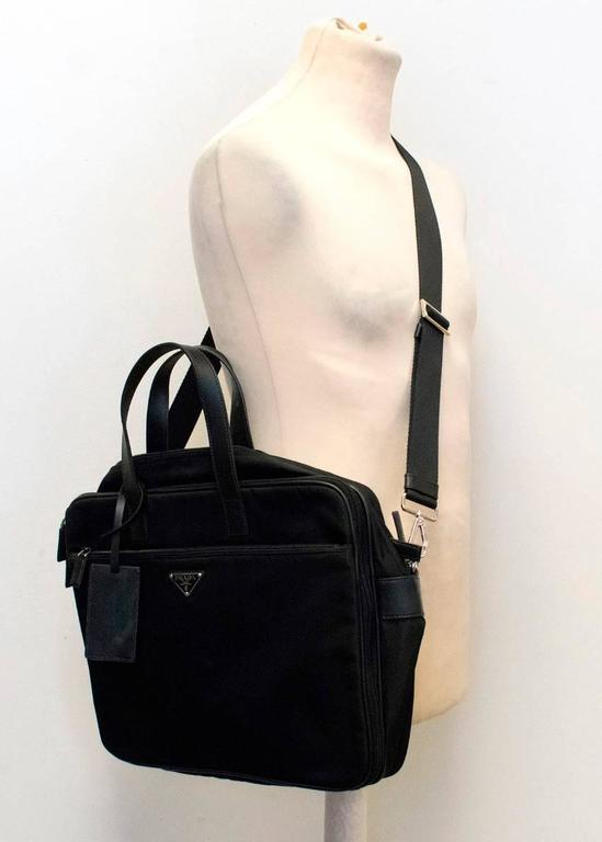1e6c64f25372 Prada Men's Black Nylon Briefcase For Sale at 1stdibs