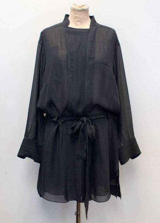 Isabel Marant Grey Silk Shirt Dress For Sale At 1stdibs