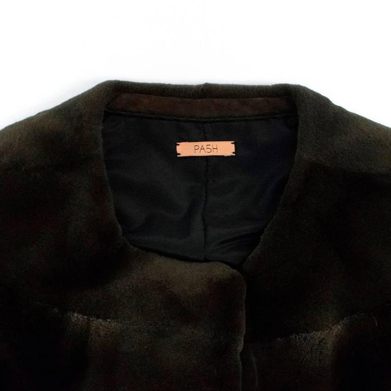 PA5H Brown Cap Sleeve Mink Fur Jacket 6
